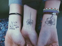 Cute idea for matching tattoos that arent identical Trying to find one for my mom, sister, and i
