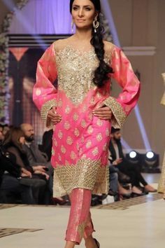 Bridal Collection at Telenor Bridal Couture Week 2014 Pakistani Bridal, Pakistani Dresses, Indian Dresses, Bridal Outfits, Bridal Dresses, Desi Wear, Desi Clothes, Sharara, Shalwar Kameez
