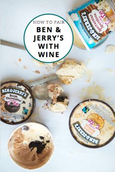 How to pair Ben & Jerry's ice cream with wine. If this isn't the recipe for a perfect night than idk what is! www.bjswithxtine.com