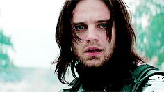 "Winter Soldier. ""Who the hell is Bucky?"" His hair is magnificent in this part of this scene."