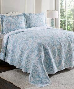 Laura Ashley Home Blue Connemara Quilt Set | zulily