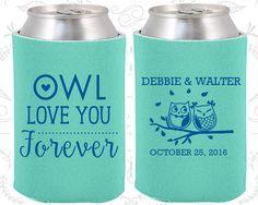 Aqua Wedding Can CoolersAqua Favors Gift Custom