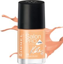 Salon Pro Nail Polish by Rimmel London - Long-lasting, chip-resistant formula - Includes 10 shades created by Kate Moss - Maxi brush for precise application - Gel shine finish Kate Moss, Rimmel Nail Polish, Swatch, Flat Brush, Nude Nails, Nail Polish Colors, Face And Body, Face Skin, Makeup Junkie