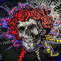 Matt Pecson -   Cranial Coitus   Oil on canvas - Grateful Dead
