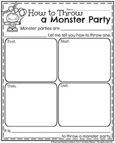 Informative Writing Prompts for October - How to Throw a Monster Party.