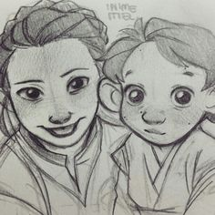 Mommy Leia and little Ben. LITTLE BEN IS ABSOLUTELY ADORABLE! <3 :D