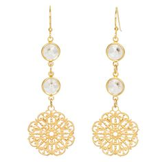 Crystal Chantilly Lace Earrings
