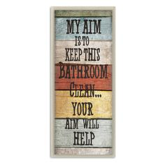Oh my goodness, too funny! 'My Aim' Wall Plaque by Stupell Industries