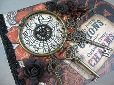 Graphic 45 featured my Steampunk Spells mini tag album last week, so I thought I'd also share it here today. I created the first video whic...