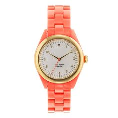 Kate Spade Coral Watch. Want this for summer
