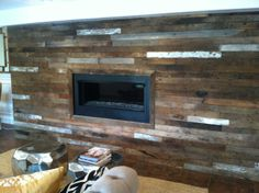 Pallet Wall Fireplace For The Home Fireplace Wall