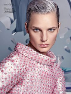 The spring-summer 2015 issue of Archetype Magazine enlists model Anmari Botha for a futuristic themed story. The normally blonde model wears a silver hairstyle to go with her wardrobe featuring exclusively Chanel Haute Couture spring looks. Photographed by Greg Swales and styled by Shan Temuri, Anmari looks sleek and sophisticated with a garden backdrop inspired …
