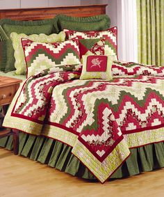 Another great find on #zulily! Red & Yellow Wavy Spice Quilt #zulilyfinds