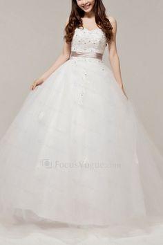 US $372.00 | Satin sweetheart gulv lengde ball kjole brudekjole med krystall