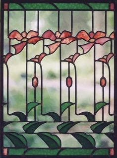 Leaded stained glass panel <br /> Custom order to re-fabricate (Contemporary Glass, Colored, Abstract)