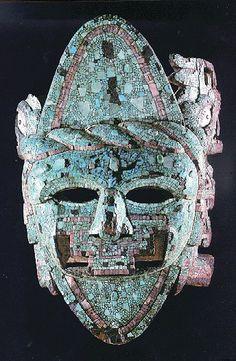Aztec turquoise mosaic mask.