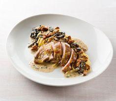 Fazant met linguini en champignon-graanmosterdsaus - Weekend knack !