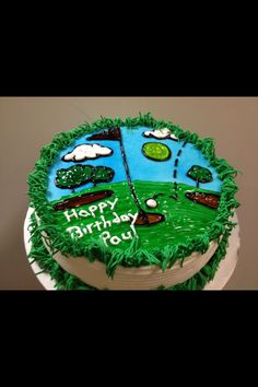 Dairy Queen® cake for someone who loves golf and ice cream cake! Perfect for Father's Day or Dad's birthday!