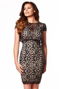 BNWT LIPSY JESSICA WRIGHT BLACK/NUDE EVA LACED DESIGN OVERLAY BODYCON UK 10 £65     eBay