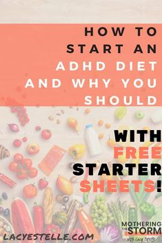 Free Cheat Sheets Inside to Get you Started this week! #ADHDnutrition