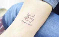 'Meow' by Banul  super cute tattoo!!
