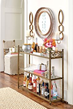 Turn your entry console into a bar or buffet