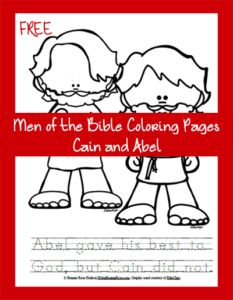 FREE Men of the Bible Coloring Page - Cain and Abel. The story of Cain and Abel is one of the saddest in the Bible, but it is also a story full of God's mercy. Bible Resources, Bible Activities, Church Activities, Cain And Abel, Bible Coloring Pages, Coloring Books, Sunday School Activities, Bible Study For Kids, Online Programs
