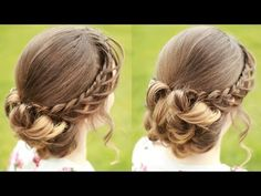 DIY Braided Updo with Curls | Updo Hairstyles | Braidsandstyles12 - YouTube