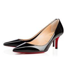 APOSTROPHY PATENT,BLACK,Patent,Women Shoes,Louboutin.