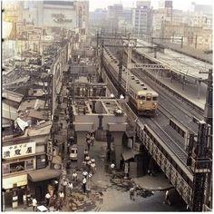 Tokyo City, Tokyo Japan, Art Transportation, Japan Train, Bg Design, Tokyo Olympics, Japanese Streets, City Photography, Historical Pictures