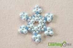 Finish the beaded snowflake ornament