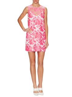 Versace Embroidered Mesh Shift Dress