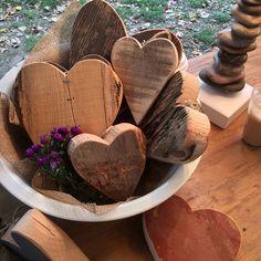 Wooden hearts at #Orticolario. #wood #lakecomo