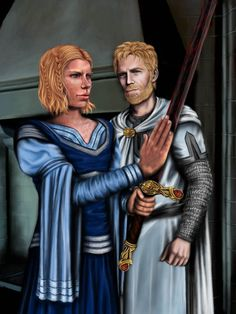 Brienne with Oathkeeper and Jamie Lannister