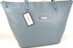 New Nine West Logo Purse Large Hand Bag Tote Infinity Slate Blue Summer Classic -- Be sure to check out this awesome product.