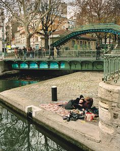 Canal Saint Martin, Paris X    Lived just two blocks away from here...