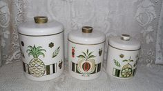 Vintage Ransburg USA metal canister set of 3 by FabulousFinds1, $19.99