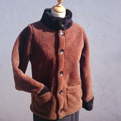 Warm ladies winter fleece jacket, keeping you warm in style. Walking the beach or the high street admiring glances will follow you.