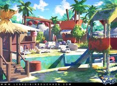 Palms and chlorine, Sylvain Sarrailh on ArtStation at http://www.artstation.com/artwork/palms-and-chlorine