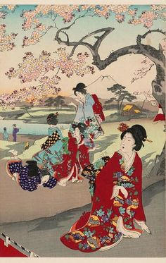 Peinture de Toyohara Chikanobu – 1894