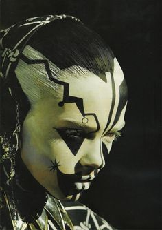 black and white face paint