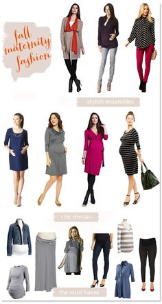 Almost all of last year fall maternity fashions work great for this year too- look for this years latest trends coming up next week! Fall Maternity Outfits, Maternity Work Clothes, Maternity Wear, Maternity Dresses, Maternity Fashion, Maternity Styles, Stylish Maternity, Pregnancy Wardrobe, Pregnancy Outfits