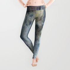The Queen of Tarts Leggings by faithalien Spandex Material, Polyester Spandex, Blue Yoga Pants, Velvet Sky, Workout Gear, Blue Grey, Leggings, Queen, Yellow