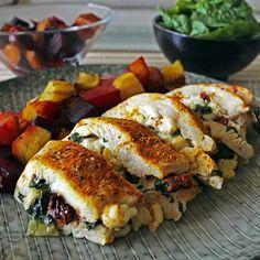 Receita de peito de frango recheado saudável | TheFitBlog