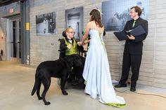 (Service) dog at a wedding!