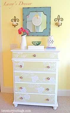 Say What? My First- Ever Furniture Makeover {Lacey's Dresser}