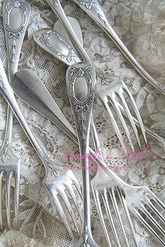 Silver forks; I'm hoping sterling silver flatware will come back into vogue.  It can contribute to a beautiful table setting.