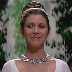 Star Wars Necklace on Princess Leia, necklace designed by Björn Weckstörm for Lapponia year 1969.