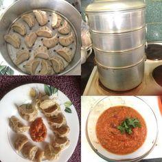 Delicious homemade Nepalese momos.