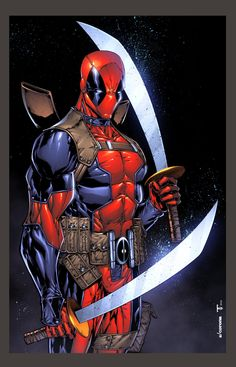 Deadpool // artwork by Adelso Corona and Juan Fernandez (2012)